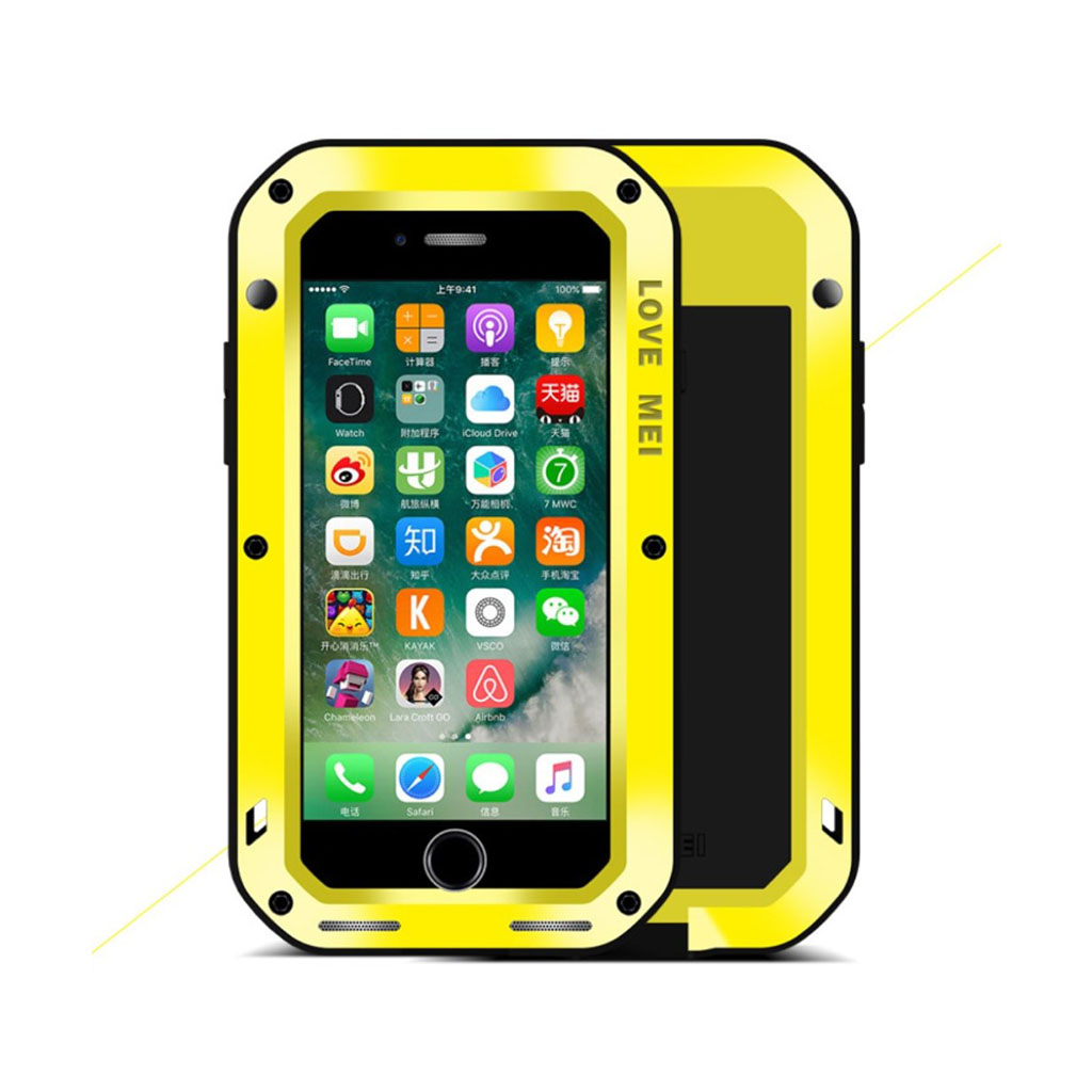 LOVE MEI iPhone 7 / 8 Iskunkestävä Suojaava Kuori - Keltainen