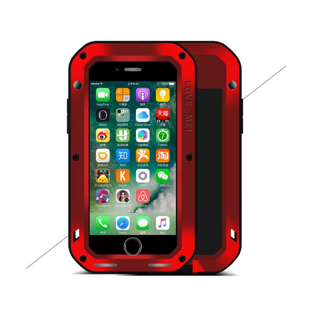 LOVE MEI iPhone 7 / 8 Iskunkestävä Suojaava Kuori - Punainen