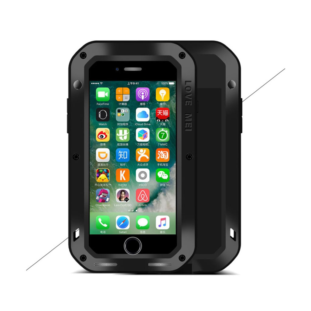 LOVE MEI iPhone 7 / 8 Iskunkestävä Suojaava Kuori - Musta