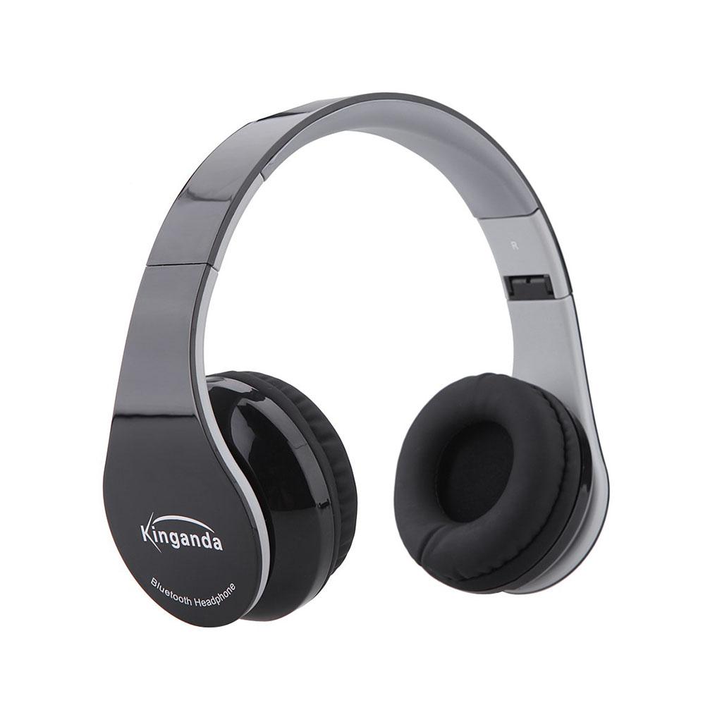KINGANDA Taitettavat Bluetooth Kuulokkeet Mikrofonilla - Musta