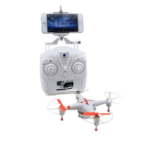 Wifi Kauko Ohjattava Quad Kopteri 3d Pyörivä Kamera Ja Gyroskooppi - Oranssi