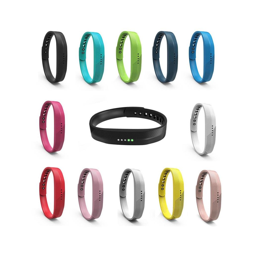Fitbit Flex 2 12Kpl Snap-in Tyylikkäitä Silikoni Kellon Rannekkeita Koko M-L