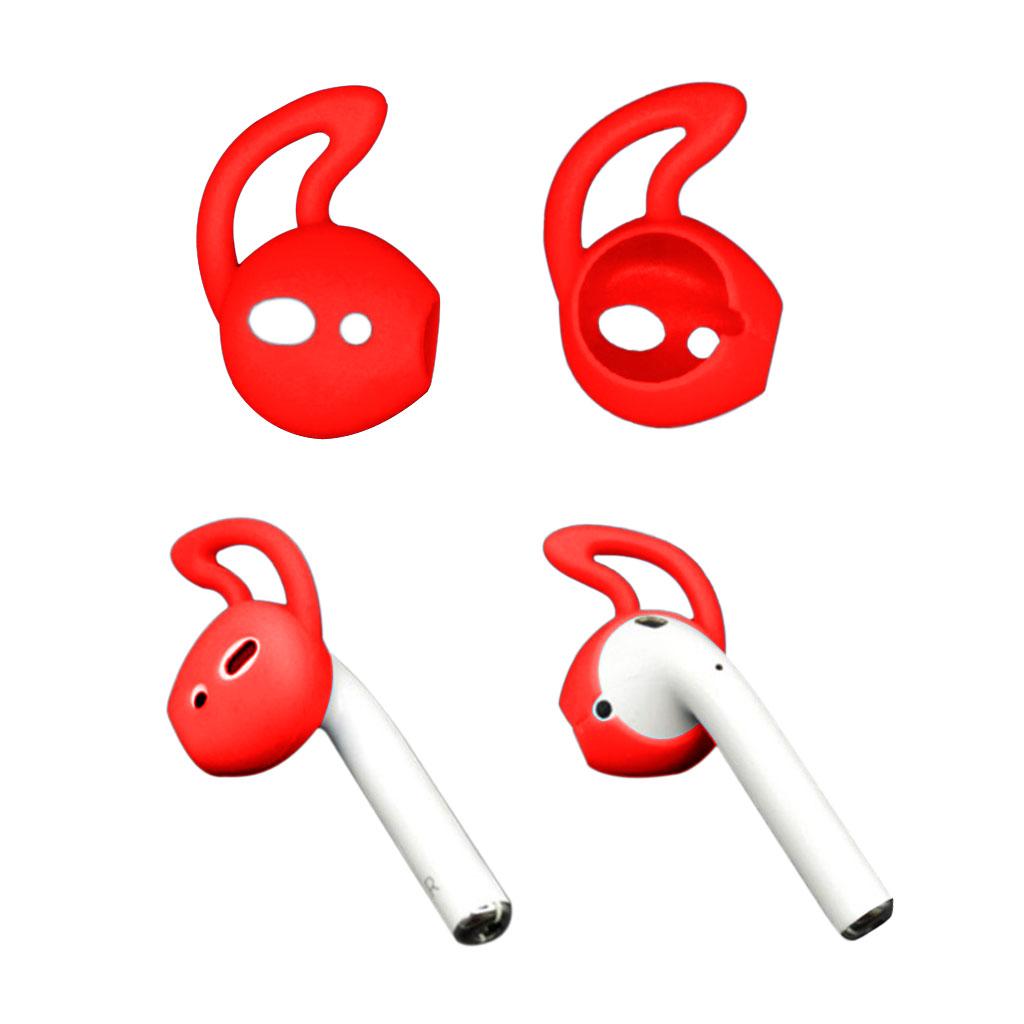 Apple Airpods 1 pari silikooni Ear Hooks Skin Cover korvaukset Apple AirPods - Punainen