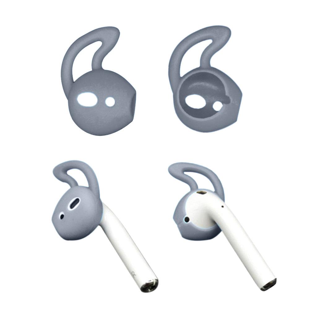 Apple Airpods 1 pari silikooni Ear Hooks Skin Cover korvaukset Apple AirPods - Transparentti