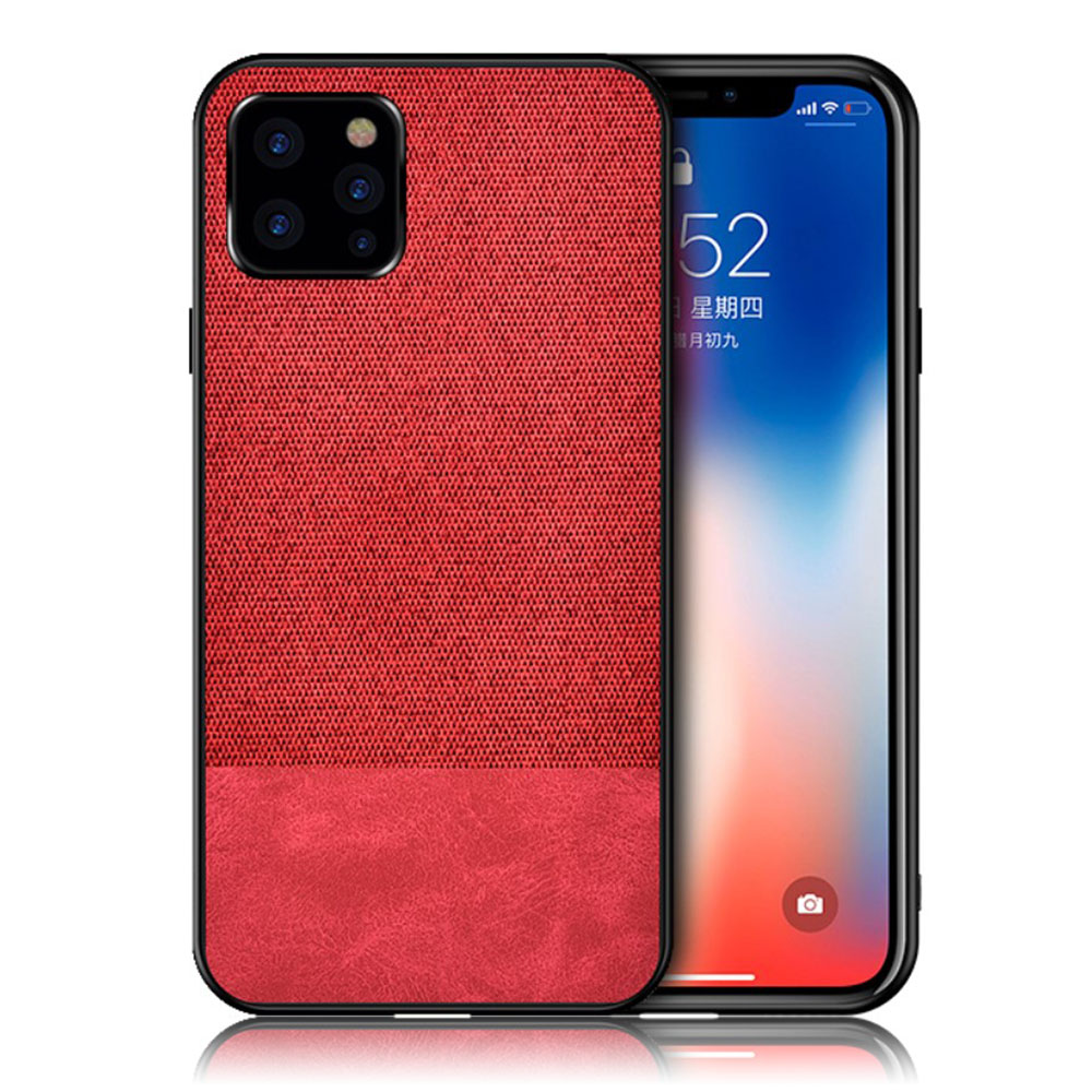 Berlin iPhone 11 Pro Max cover - Red / Cloth+PU Style